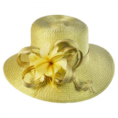 Swan Goldilocks Boater hat