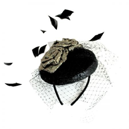 Swan Metallic Fascinator