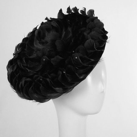 Swan Feathered Disc Fascinator