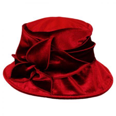 Swan Crushable Velvet Flower Hat