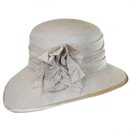 Swan Boucle Jersey Downbrim Hat