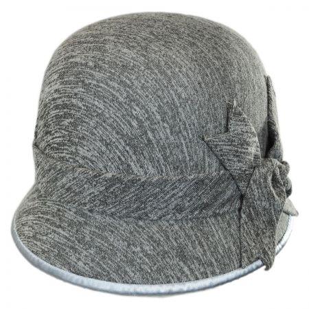Swan Boucle Jersey Cloche Hat