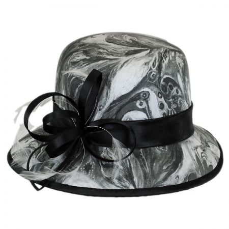 Swan Painted Downbrim Hat