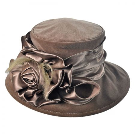 Swan Sable Velvet Boater hat
