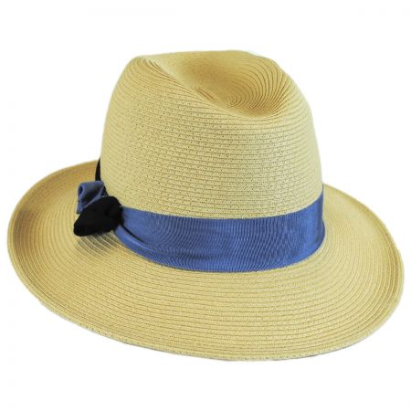 Hatch Hats Knotted Band Straw Safari Fedora Hat