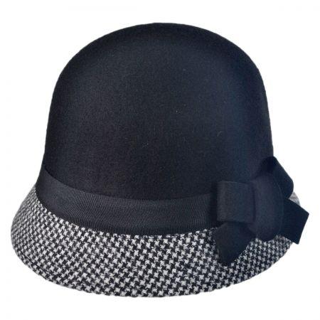 Swan Checker Cloche Hat