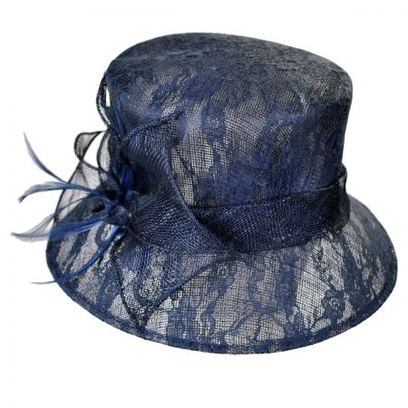 Swan Lace Topper Dress Hat