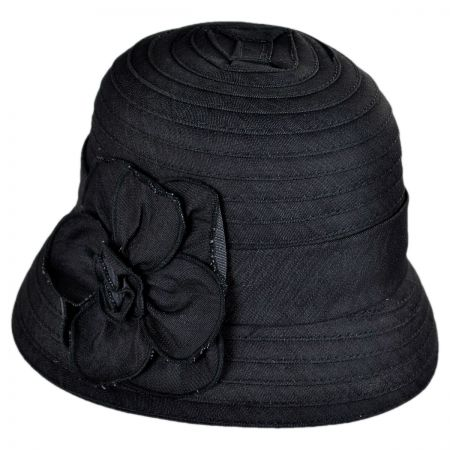Swan Packable Rose Cloche Hat