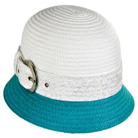 Swan Two-Tone Buckle Cloche Hat