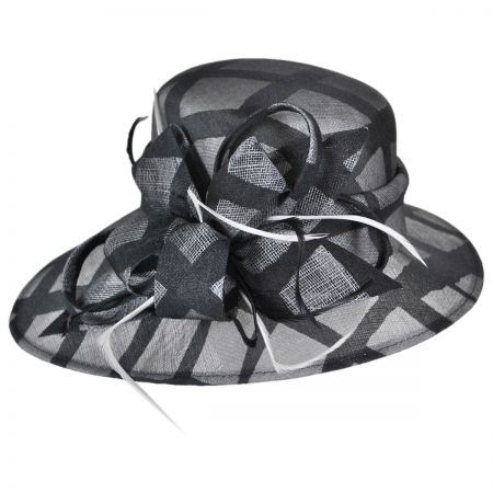 Swan Two-Tone Windowpane Downbrim Hat