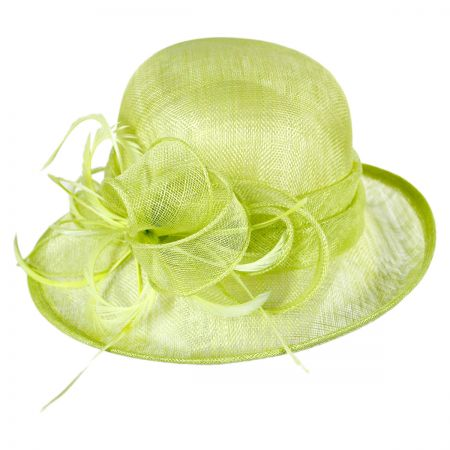 Swan Canna Off Face Dress Hat