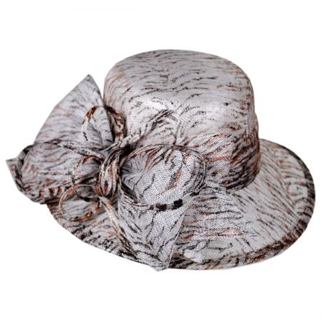 Swan Tiger Boater Hat