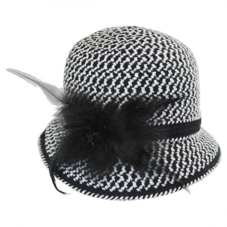 Swan Chenille Ribbon Cloche Hat