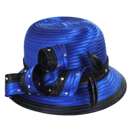 Swan Two Tone Satin Ribbon Dress Hat