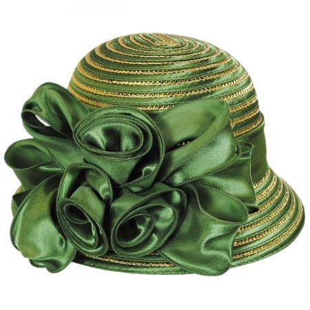 Swan Crisp Green Metallic Dress Hat