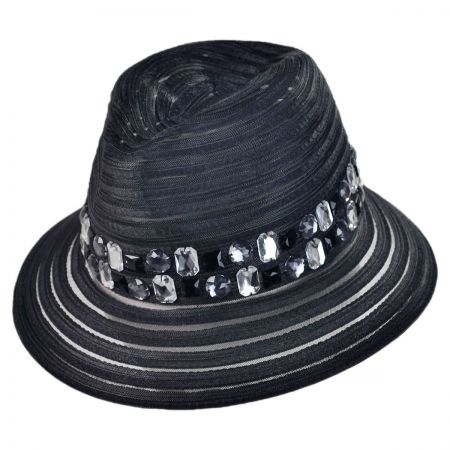 Swan Jewel Fedora Crushable