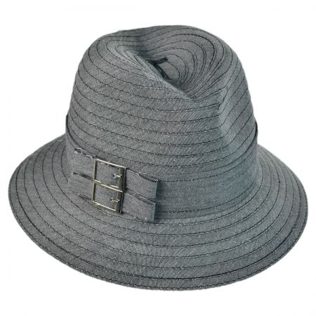 Swan Two Buckle Fedora Packable