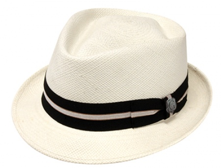 Bigalli Panama Diamond Crown Stingy Brim Fedora Hat