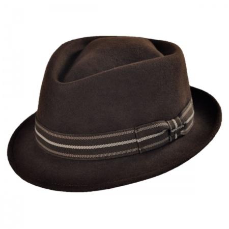 Bigalli Diamond Crown Stingy Brim Fedora Hat