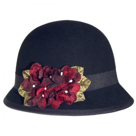 Toucan Velvet Hydrangea Cloche Hat