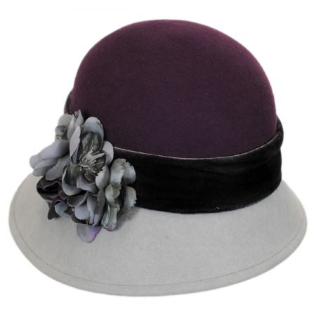 Petal Two-Tone Wool Cloche Hat