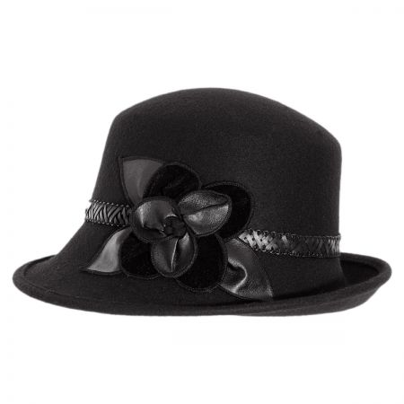 Petal Profile Wool Cloche Hat