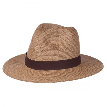 Toucan Wide Brim Straw Fedora Hat