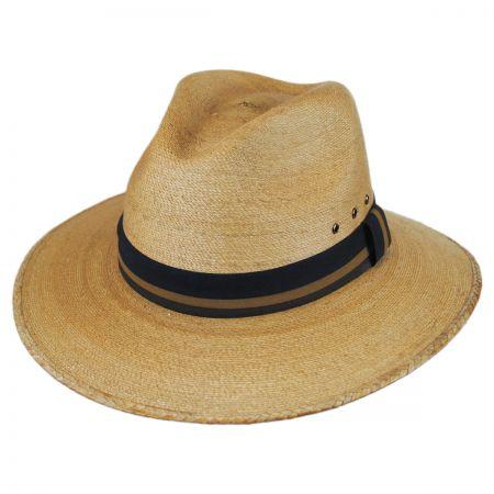 Toucan Fine Palm Straw Safari Fedora Hat