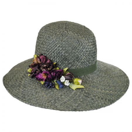 Toucan Rosette Raffia Straw Cloche Hat