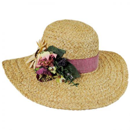 Toucan Cornucopia Raffia Straw Swinger Hat