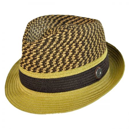 Ben Sherman Braid Straw Trilby Hat
