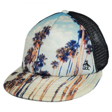 Penguin Palm Tree Trucker Cap
