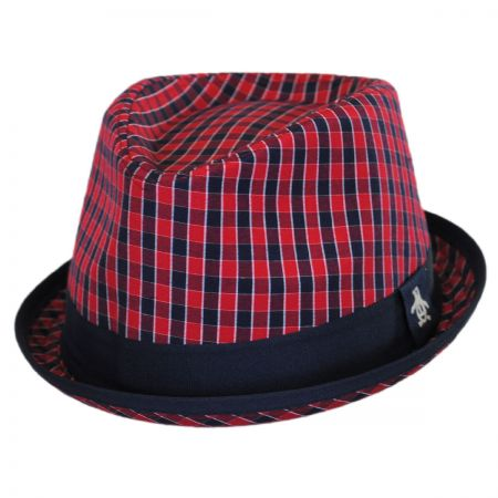 Penguin Mini Cheque Fedora Hat