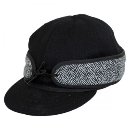 Stormy Kromer Black Harris Tweed Cap
