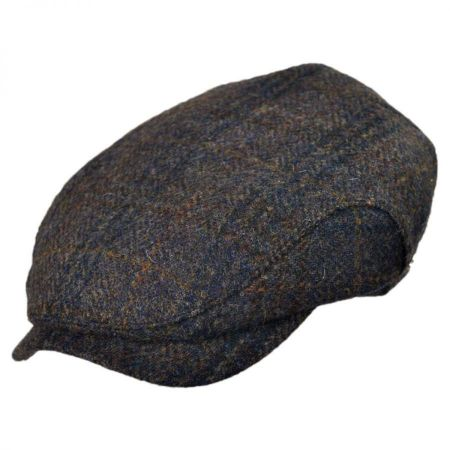 Wigens Caps Melange Harris Tweed Ivy Cap with Earlaps