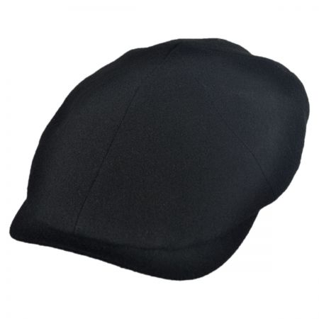 Wigens Caps Solid Melton Newsboy Cap w/ Earflaps Hat