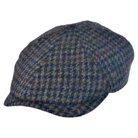 Wigens Caps Harris Tweed Newsboy Cap w/ Earflaps Hat