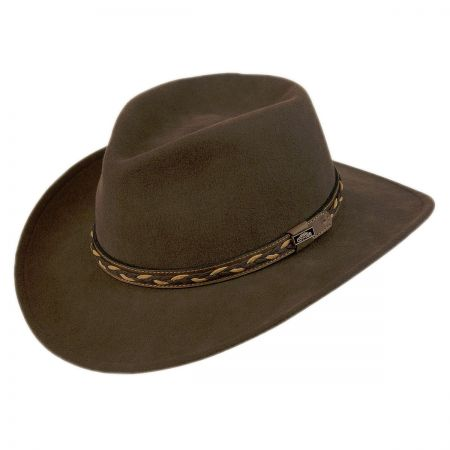 Conner Leather Braid Band Aussie Hat