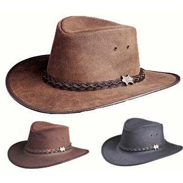 BC Hats Bush & City Smooth Leather Hat