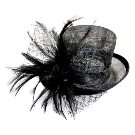 Conner Feathered Mini Top Hat Fascinator