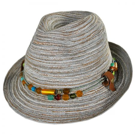 Conner Spain Fedora Hat with Removable Necklace