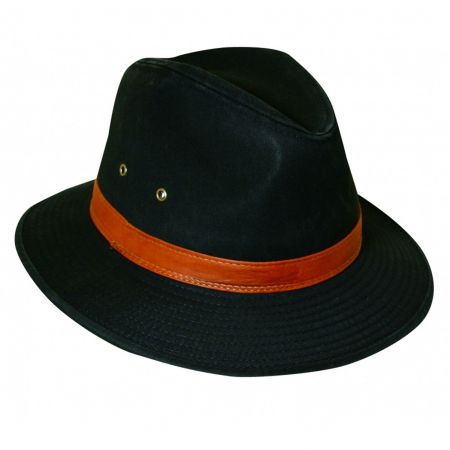 Packable Washed Twill Safari Fedora Hat