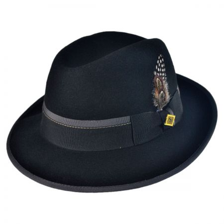 Stacy Adams Center Crease Snap Brim Fedora Hat
