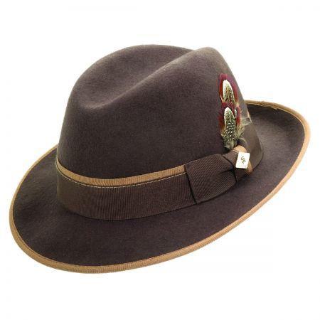 Stacy Adams Center Crease Snap Brim Fedora Hat