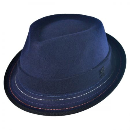 Stacy Adams Crushable Stitch Brim Fedora Hat