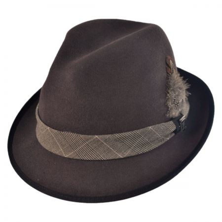 Stacy Adams Crushable Pinch Front Fedora Hat