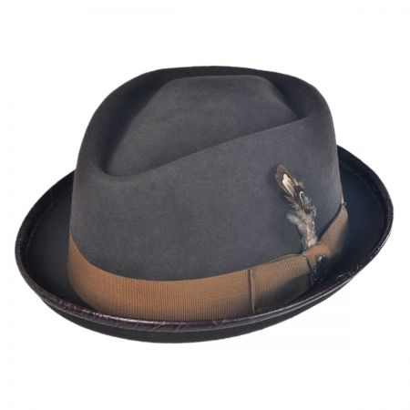 Stacy Adams Crushable Diamond Crown Fedora Hat