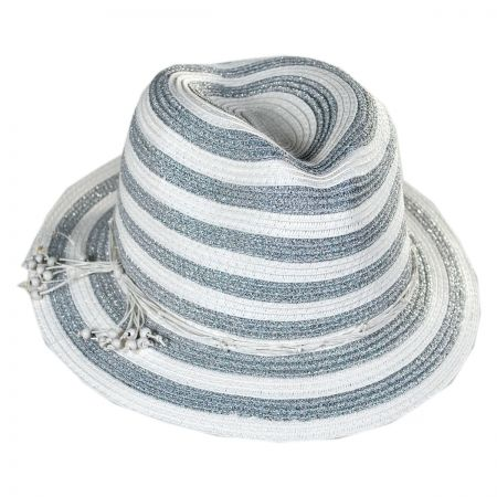 Tommy Bahama Metallic Stripe Fedora Hat