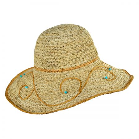 Callanan Hats Swirls and Turquoise Swinger Hat