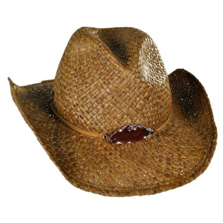 Tommy Bahama Stone and Leather Western Hat